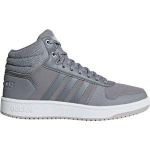 adidas HOOPS 2.0 MID šedá 7.5 - Dámská volnočasová obuv