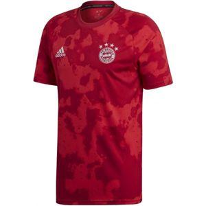 adidas FCB H PRESHI červená M - Pánský fotbalový dres