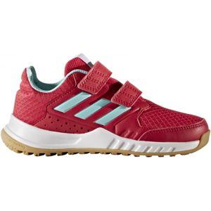 adidas FORTAGYM CF K červená 28 - Dětská sálová obuv