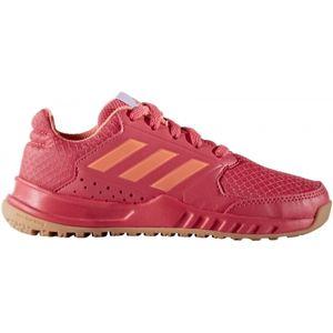 adidas FORTAGYM K růžová 5.5 - Dětská halová obuv