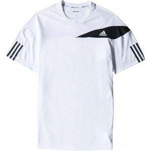 adidas RESPONSE TEE bílá S - Pánské tenisové tričko