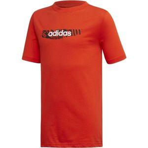 adidas YB E GRAPH TEE oranžová 140 - Chlapecké tričko