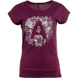 ALPINE PRO TUFFA 3 vínová M - Dámské triko