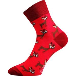Boma PATTE 023 červená 35/38 - Vánoční ponožky