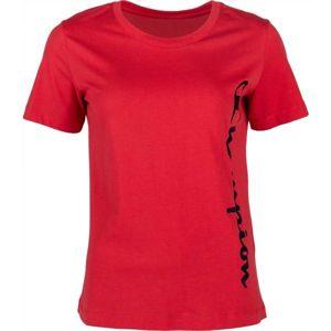 Champion CREWNECK T-SHIRT červená L - Dámské tričko