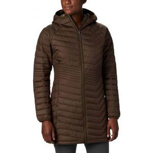 Columbia POWDER LITE MID JACKET hnědá XL - Dámská dlouhá zimní bunda
