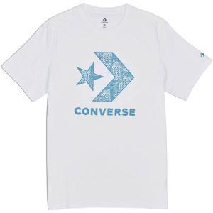 Converse STAR CHEVRON SNEAKER TEE bílá S - Pánské triko