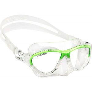 Cressi MOON JR MASK zelená NS - Juniorská potápěčská maska