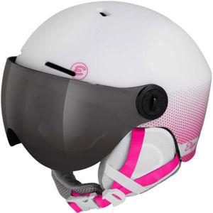 Etape SPEEDY PRO růžová (53 - 55) - Dětská lyžařská přilba s visorem