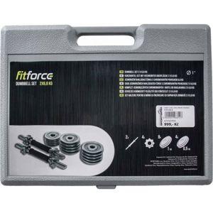 Fitforce ADBC 2x6,8 KG  NS - Set jednoručních nakládacích činek