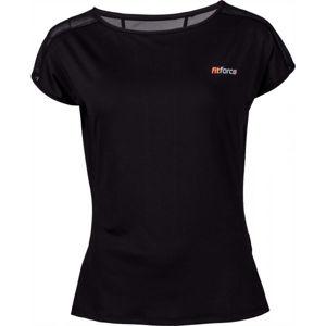 Fitforce CLAVI černá S - Dámské fitness triko