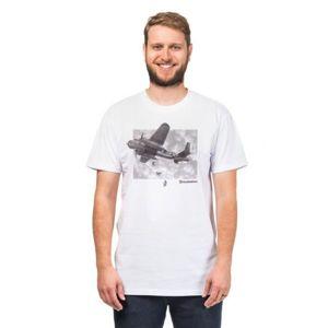 Horsefeathers BOMBER  T-SHIRT bílá XL - Pánské tričko