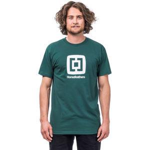 Horsefeathers FAIR T-SHIRT tmavě zelená XL - Pánské tričko