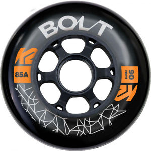 K2 BOLT 90/85A WHEEL 4 PACK BLK   - Kolečka k in-line bruslím