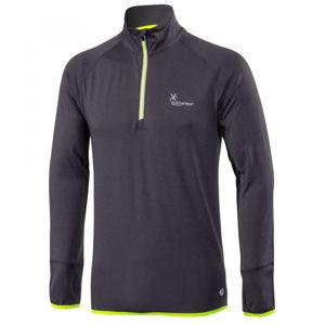 Klimatex ENSIO tmavě šedá L - Pánský běžecký pulovr