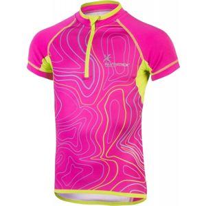 Klimatex MALKA růžová 146 - Dětský cyklistický dres