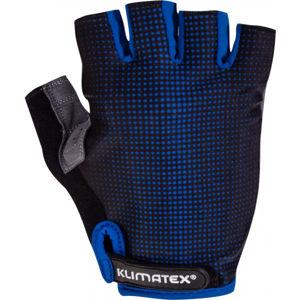 Klimatex RIELI modrá L - Pánské cyklistické rukavice
