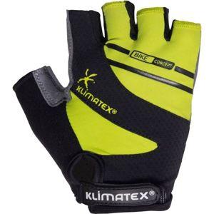 Klimatex SENCE zelená M - Unisex cyklistické rukavice