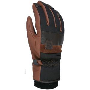 Level JOKER hnědá S - Kožené lyžařské rukavice