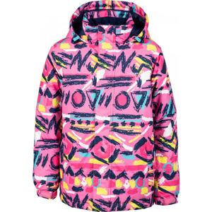 Lewro ANFET růžová 116-122 - Dětská snowboardová bunda
