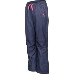 Lewro NINGO modrá 152-158 - Dětské zateplené kalhoty