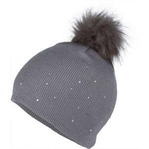 Lewro ROSMERY šedá 8-11 - Dívčí pletená čepice