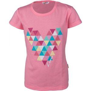 Lewro MINDY růžová 152-158 - Dívčí triko s krátkým rukávem