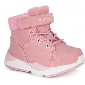 Loap JIMMA růžová 27 - Dětská zimní obuv