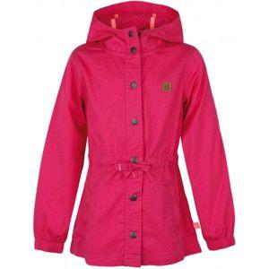 Loap POKINA růžová 112-116 - Dívčí kabát