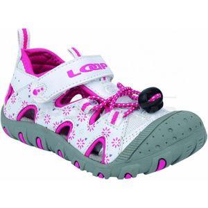 Loap LILY bílá 22 - Dětské sandály