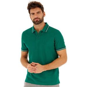 Lotto POLO CLASSICA PQ tmavě zelená XL - Pánské polo triko