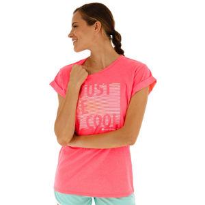 Lotto TEE COOL W JS růžová XS - Dámské tričko