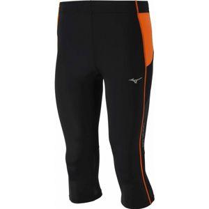 Mizuno BG3000 3/4 TIGHTS černá S - Pánské elastické 3/4 kalhoty