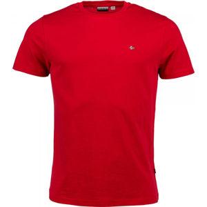 Napapijri SELIOS 2 červená M - Pánské tričko