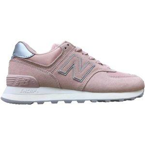 New Balance WL574OPS růžová 3.5 - Dámská volnočasová obuv