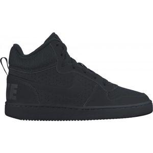 Nike COURT BOROUGH MID černá 5.5Y - Dětská obuv pro volný čas