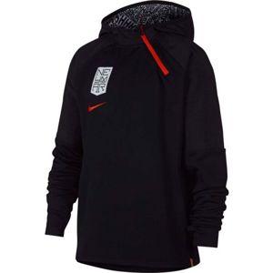 Nike NYR DRY HOODIE QZ NEYMAR černá XS - Chlapecká fotbalová mikina