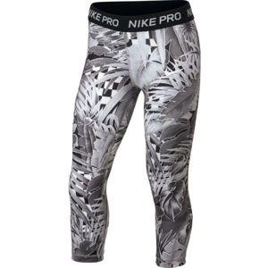 Nike NP CAPRI AOP1 šedá S - Dívčí sportovní legíny