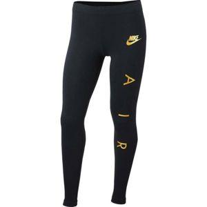 Nike NSW TGHT FAVORITES AIR1 černá M - Dívčí legíny