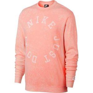Nike NSW CE CRW FT WASH růžová L - Pánská mikina