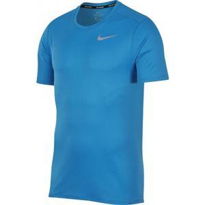 Nike BRTHE RUN TOP SS modrá M - Pánský běžecký top