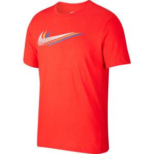 Nike NSW SS TEE SWOOSH M oranžová 2XL - Pánské tričko