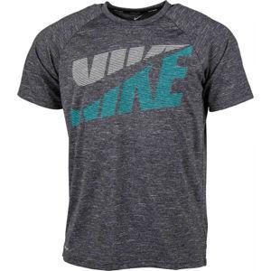 Nike HEATHER TILT černá XL - Pánské tričko do vody