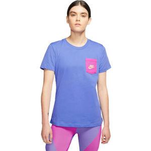 Nike NSW TEE ICON CLASH W modrá M - Dámské tričko