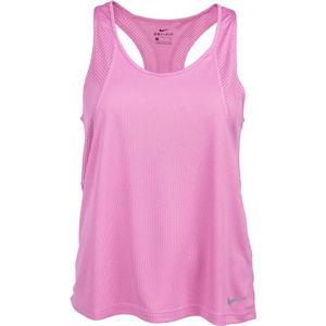 Nike RUN TANK W růžová M - Dámské běžecké tílko