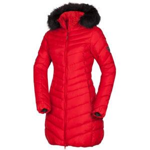 Northfinder VONILA červená XL - Dámská dlouhá bunda