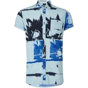 O'Neill LM ALLOVER FLOWAL S/SLV SHIRT modrá L - Pánská košile