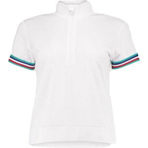 O'Neill LW ZIP TOP S/SLV ATHLEISURE bílá M - Dámské tričko