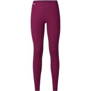 Odlo SUW WOMEN'S BOTTOM ORIGINALS WARM XMAS vínová S - Dámské funkční kalhoty