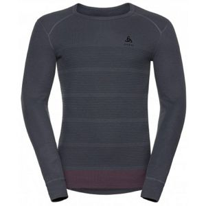 Odlo SUW MEN'S TOP L/S CREW NECK ACTIVE ORIGINALS WARM GOD JUL PRINT šedá M - Pánské triko